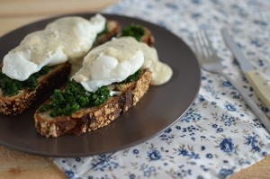 BC01-3-Toast with Spinach and Poached Egg