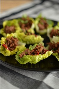 Asian Lettuce Boats with Beef