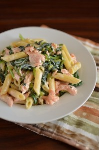 BC03-8-Pasta with Smoked Salmon and Spinach