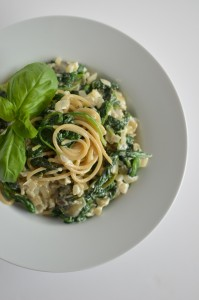 BC07-9-Spinach Garlic Spaghetti