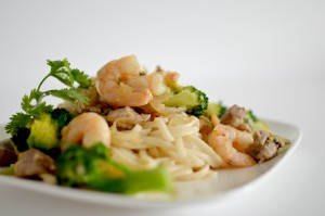 BC09-5 - Stir-fried Garlic Prawns and Pork