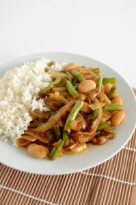 BC09-6 - Green beans and butterbeans in Asian sauce