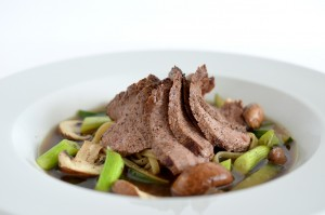 BC10-5 - Beef and mushroom noodle soup