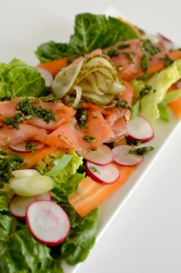 BC10-6 - Smoked salmon with Asian dressing