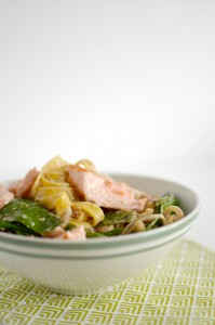 BC12-2-Pasta with salmon and sugar snaps