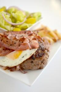 BC12-5-Hamburger with egg and fries
