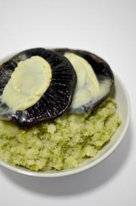 BC12-7-Portobello with goat cheese and broccoli mash