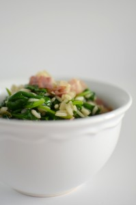 BC12-8-Spinach and bacon risotto