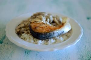 BC14-2-Salmon with mushroom sauce