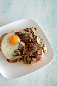 BC15-1-Mushrooms on Toast with a Sunny Side Up