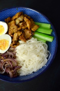 BC16-7-Noodle Bowl with Chinese Flavoured Pork Belly